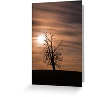Smoky night from bushfires. Greeting Card