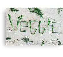 Word Veggie Canvas Print