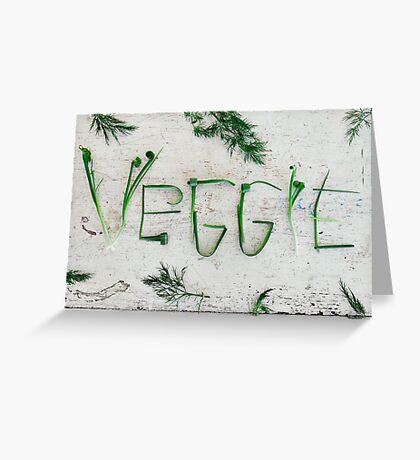 Word Veggie Greeting Card