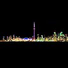 Toronto Skyline At Night From Centre Island by Brian Carson