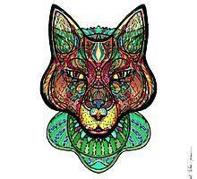 Psychedelic fox by Milena Taranu