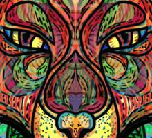 Psychedelic fox Sticker
