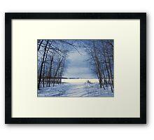 Wintertime At Sheldon Marsh Framed Print