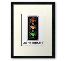 MIXED SIGNALS Framed Print