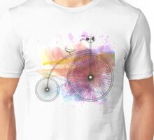 Bike Hipster Watercolor Unisex T-Shirt