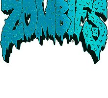 Flatbush Zombies Logo - Aqua Blue by Ben McCarthy