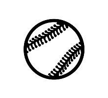 Baseball icon Photographic Print