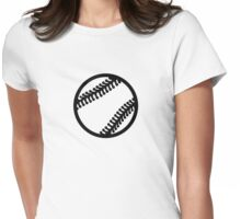 Baseball icon Womens Fitted T-Shirt