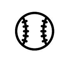 Black Baseball ball Photographic Print