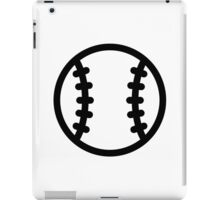 Black Baseball ball iPad Case/Skin