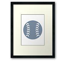 Grey Baseball Framed Print