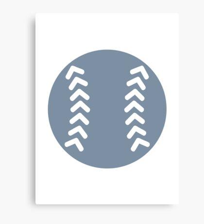 Grey Baseball Canvas Print