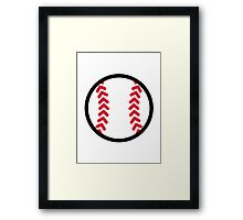 Baseball ball Framed Print