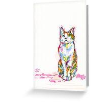 Cat drawing Greeting Card