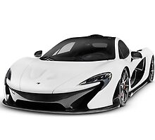 McLaren P1 plug-in hybrid supercar art photo print by ArtNudePhotos