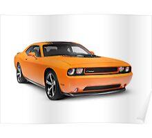2014 Dodge Challenger muscle car art photo print Poster