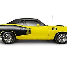 1972 Dodge Challenger retro muscle car art photo print by ArtNudePhotos
