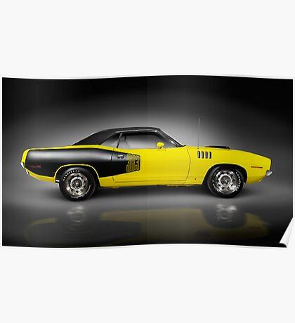 1972 Dodge Challenger retro sports car art photo print Poster