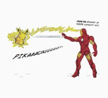 Ironman vs. Pikachu by djprice