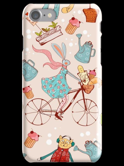 rabbit on bisycle by Maryna  Rudzko