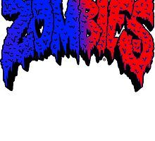 Flatbush Zombies Logo - Blue/Red by Ben McCarthy