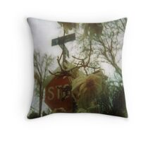 come early stay late Throw Pillow