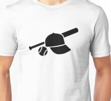 Baseball cap hat bat Unisex T-Shirt
