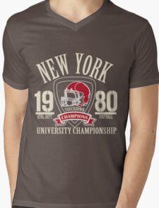 Vintage Print Mens V-Neck T-Shirt