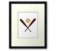 Baseball Bat ball Framed Print