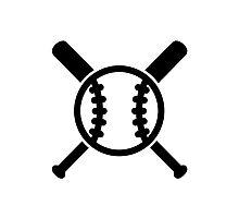 Baseball bats ball Photographic Print