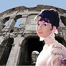 Roman Coliseum and Audrey by Dulcina