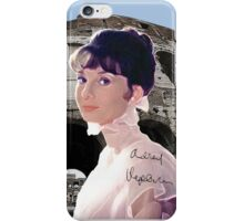 Roman Coliseum and Audrey iPhone Case/Skin