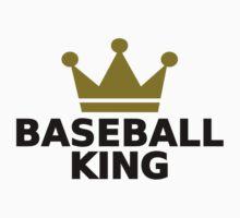Baseball King crown  Kids Tee