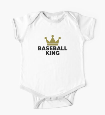 Baseball King crown  One Piece - Short Sleeve