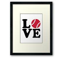 Baseball love Framed Print