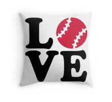 Baseball love Throw Pillow