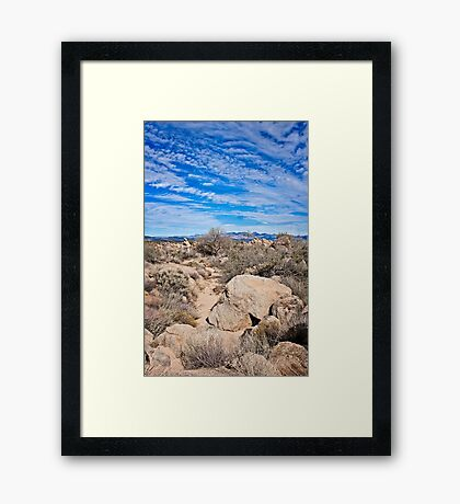 To the Sonoran Sky and Back Framed Print