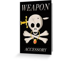Weapon Accessory - Final Fantasy VII Greeting Card
