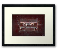 DARK TAPE Framed Print