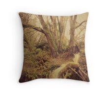 Ragged Wood Throw Pillow