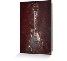 DARK GUITAR Greeting Card