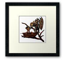 Songbird Feeds the Babies Framed Print