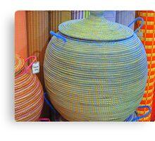 Linen Baskets And Mats Canvas Print