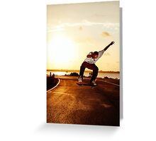 Not your average sunset photo. Greeting Card