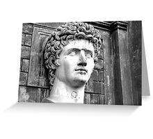 Head of Augustus Greeting Card