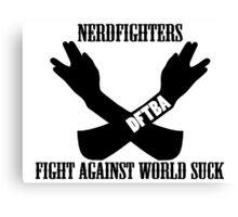 Fight World Suck Canvas Print