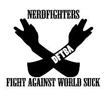 Fight World Suck Photographic Print