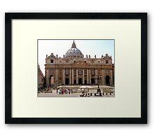 St Peters Basilica, Rome Framed Print