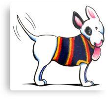 Bull Terrier in Blue Metal Print