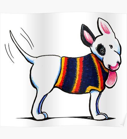 Bull Terrier in Blue Poster